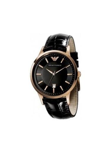 Emporio Armani Ar2425 Kasa Deri Kordonlu Kadranlı Erkek Kol Saati Altın